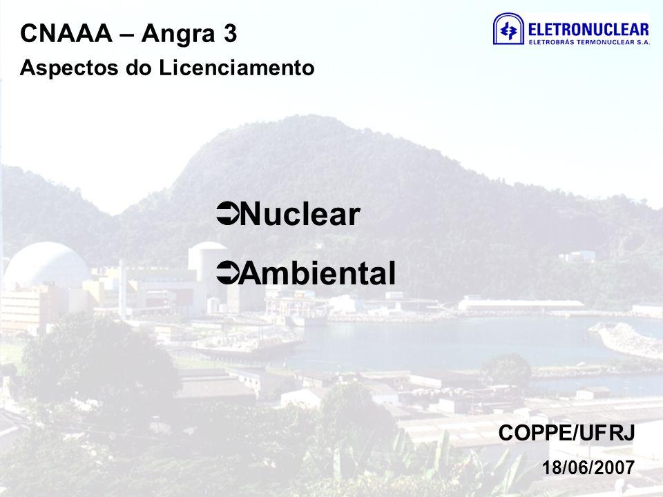 Nuclear Ambiental CNAAA – Angra 3 Aspectos do Licenciamento COPPE/UFRJ