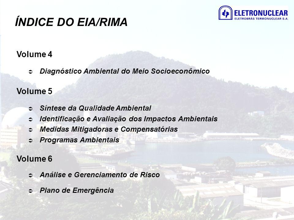 ÍNDICE DO EIA/RIMA Volume 4 Volume 5 Volume 6