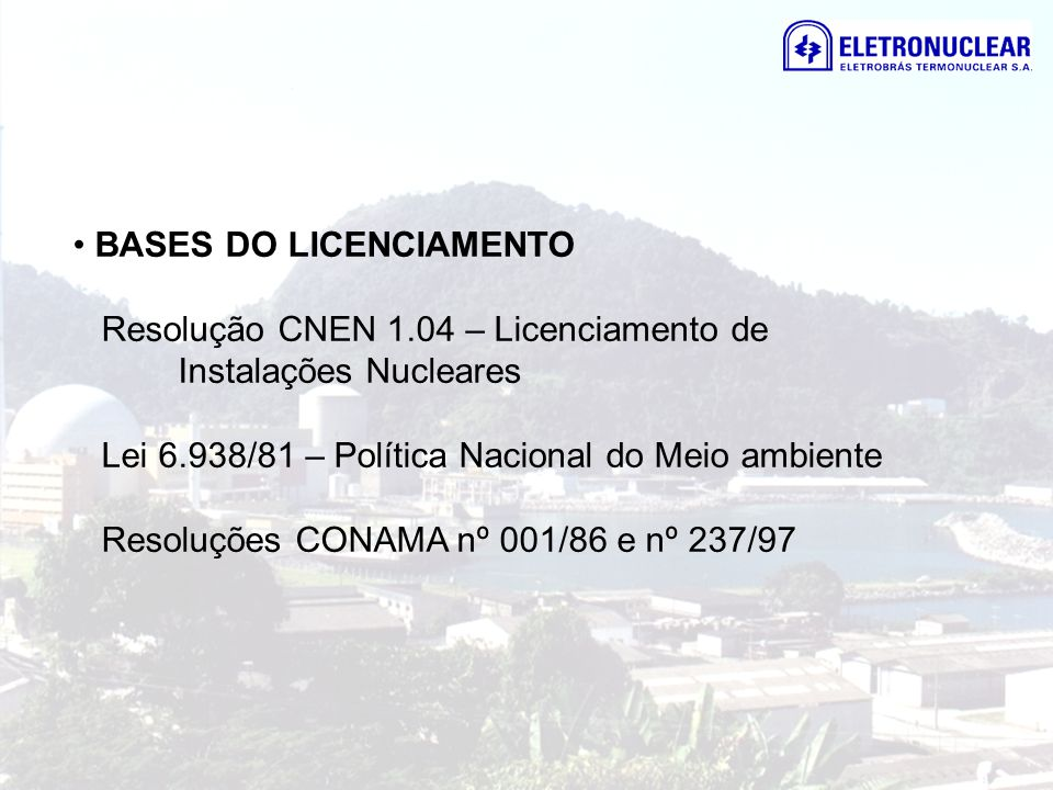 BASES DO LICENCIAMENTO