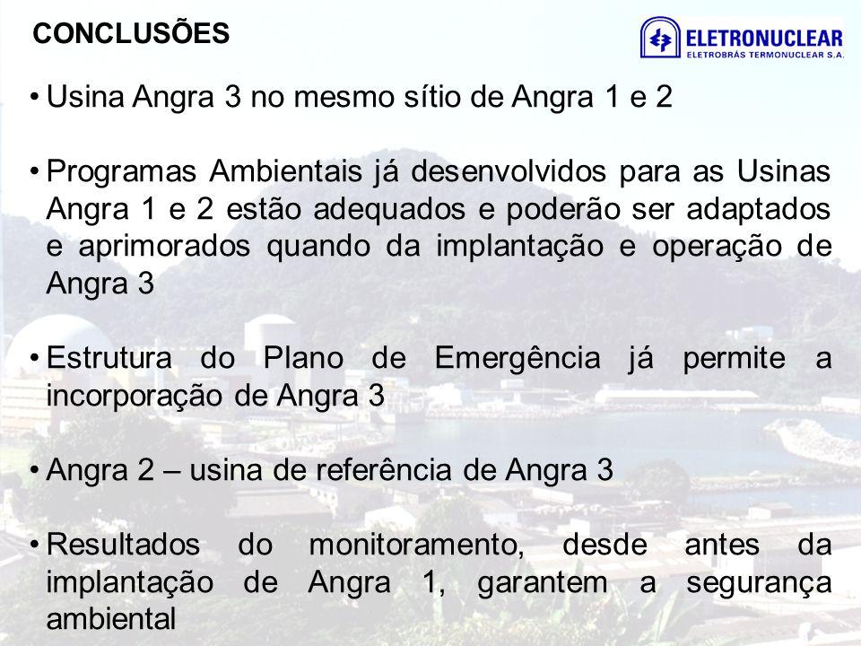 Usina Angra 3 no mesmo sítio de Angra 1 e 2