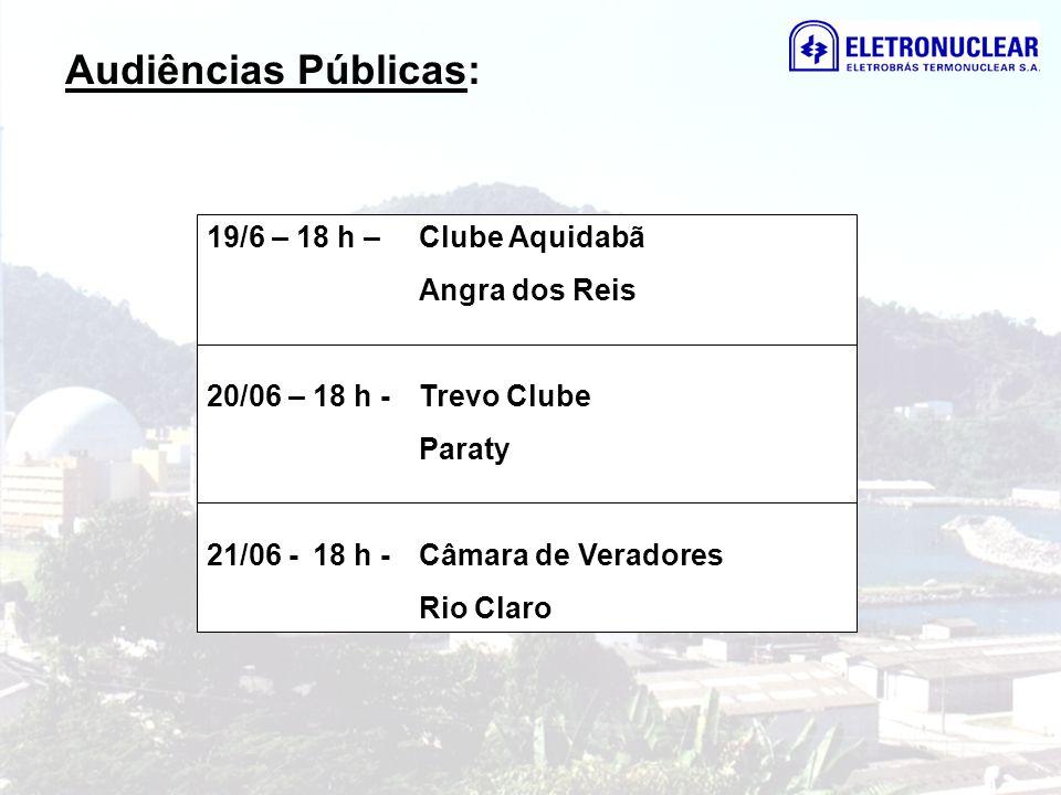 Audiências Públicas: 19/6 – 18 h – Clube Aquidabã Angra dos Reis