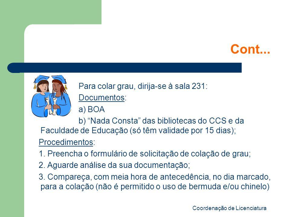 Coordenação de Licenciatura