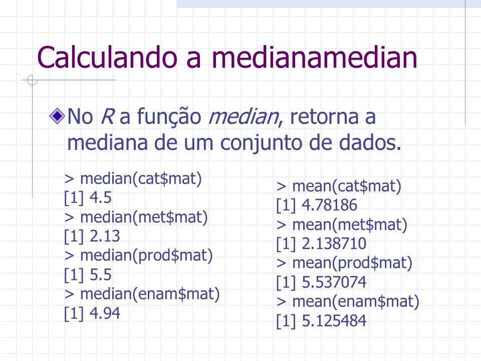 Calculando a medianamedian