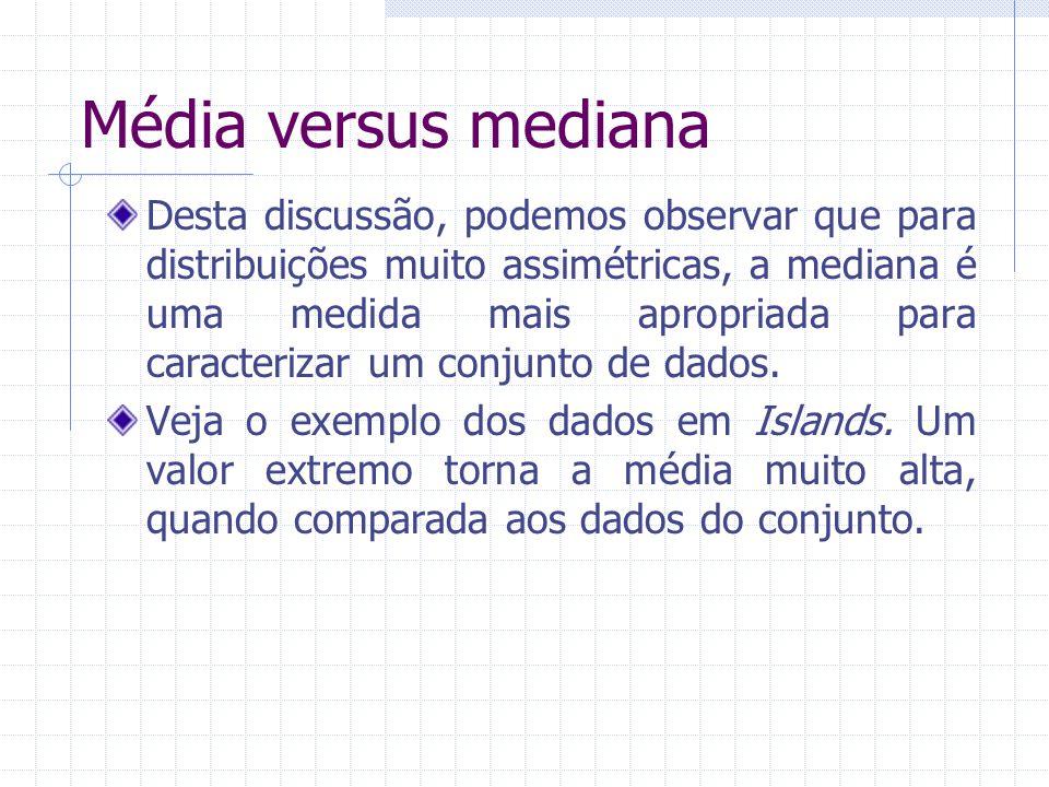 Média versus mediana