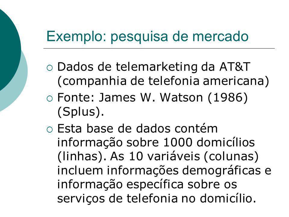Exemplo: pesquisa de mercado