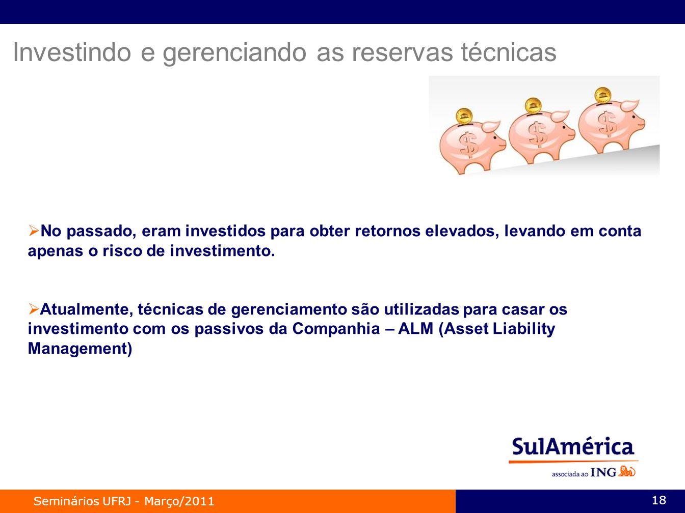 Investindo e gerenciando as reservas técnicas