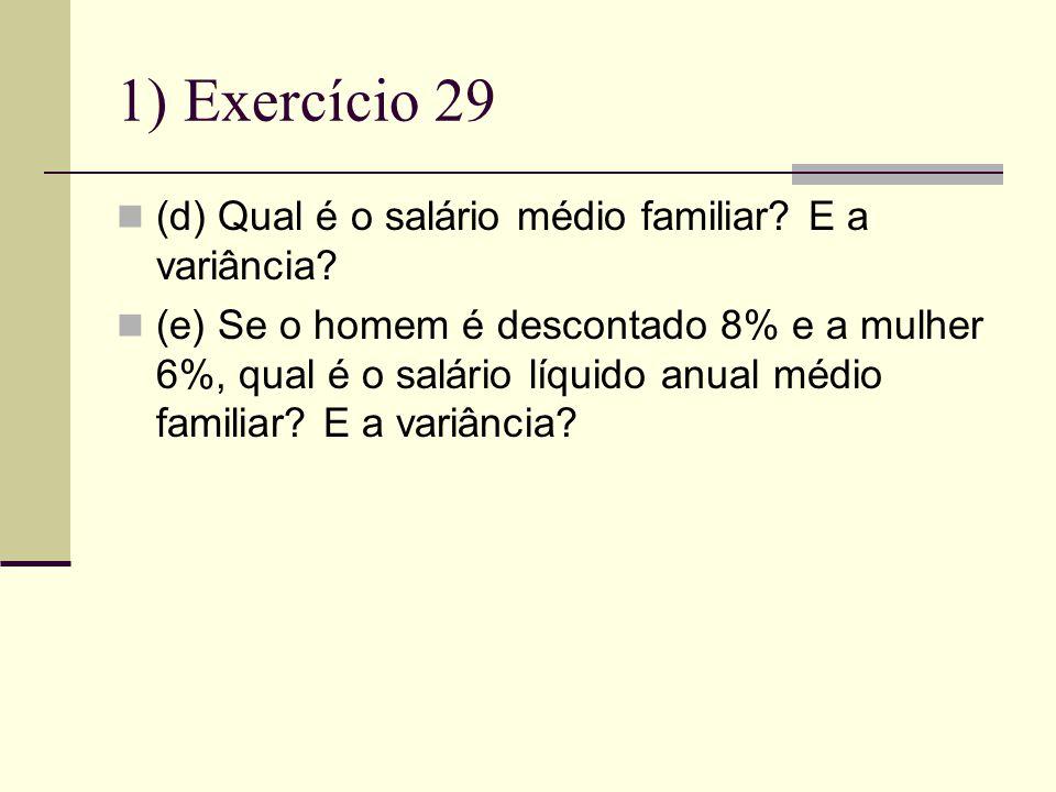 1) Exercício 29 (d) Qual é o salário médio familiar E a variância