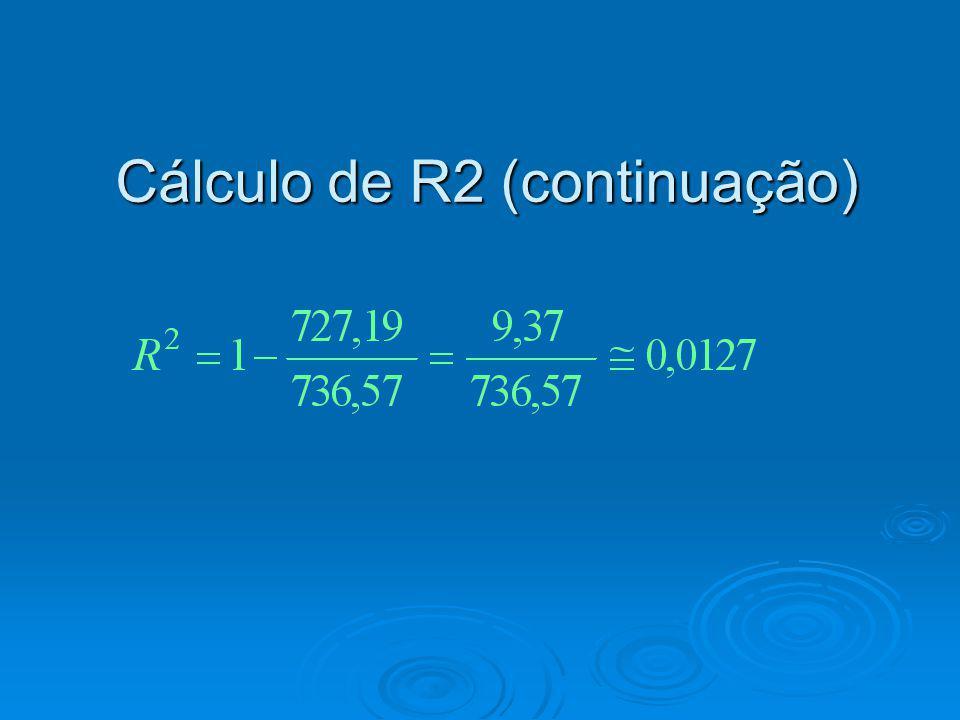 Cálculo de R2 (continuação)