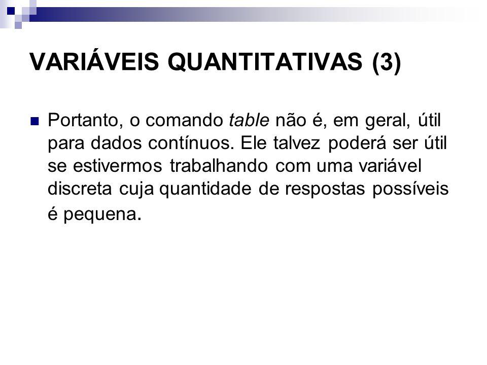 VARIÁVEIS QUANTITATIVAS (3)