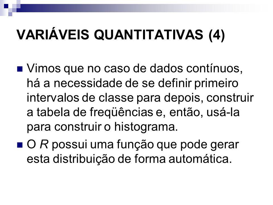 VARIÁVEIS QUANTITATIVAS (4)