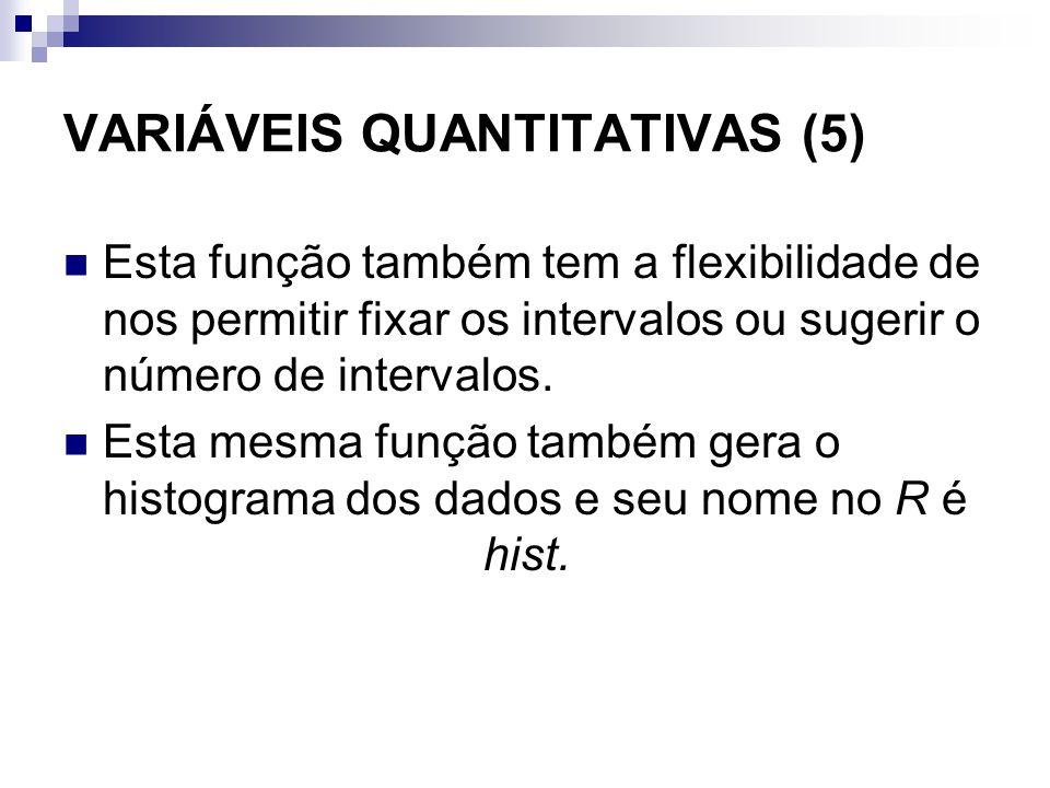 VARIÁVEIS QUANTITATIVAS (5)