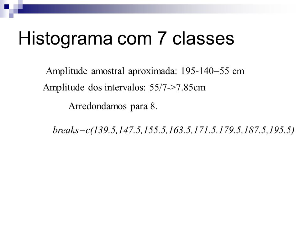 Histograma com 7 classes