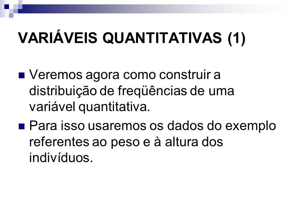 VARIÁVEIS QUANTITATIVAS (1)
