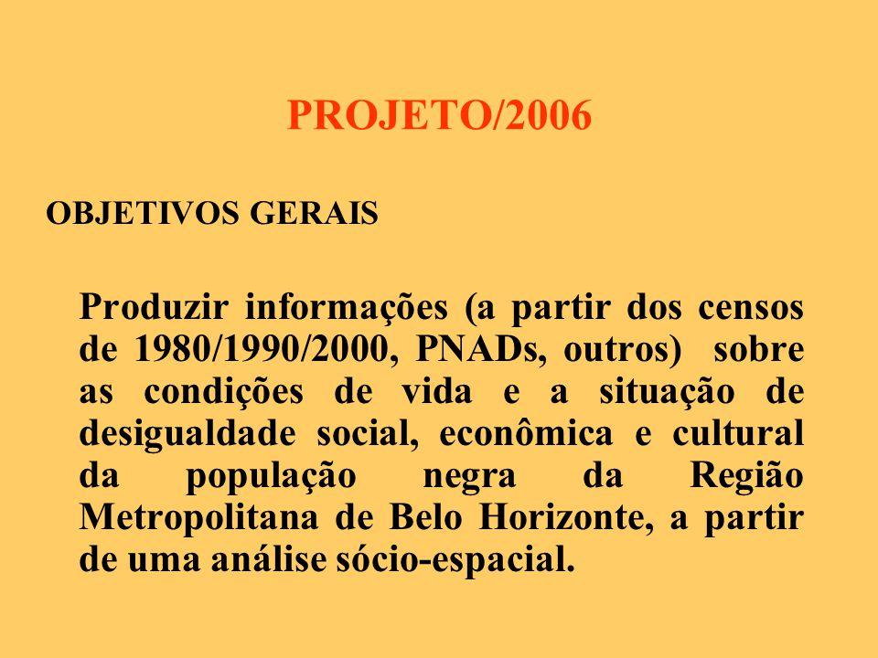 PROJETO/2006 OBJETIVOS GERAIS