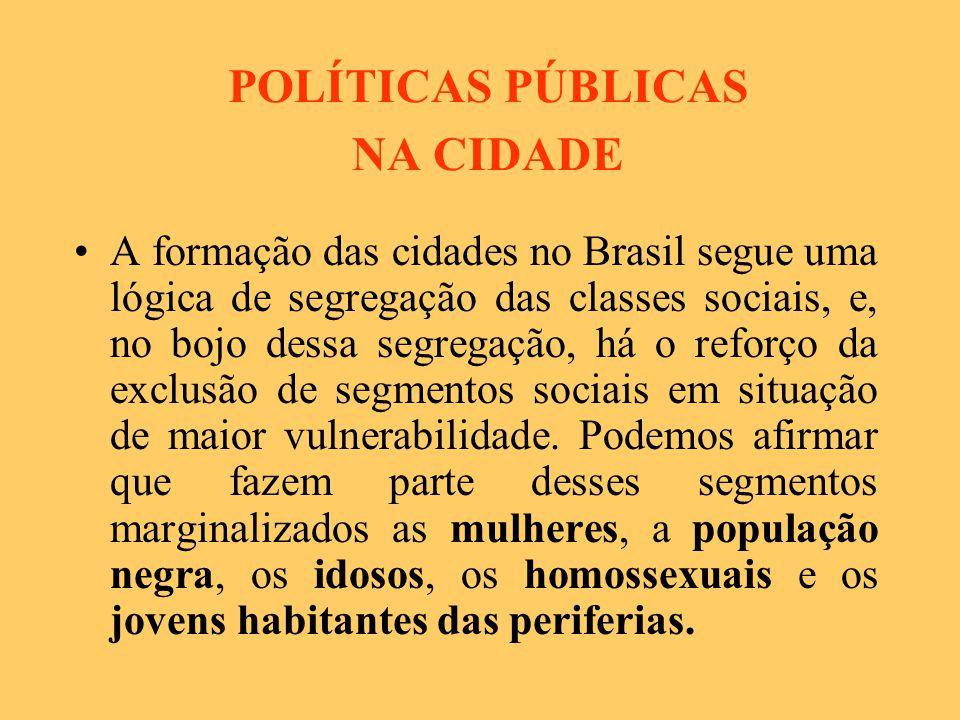 POLÍTICAS PÚBLICAS NA CIDADE