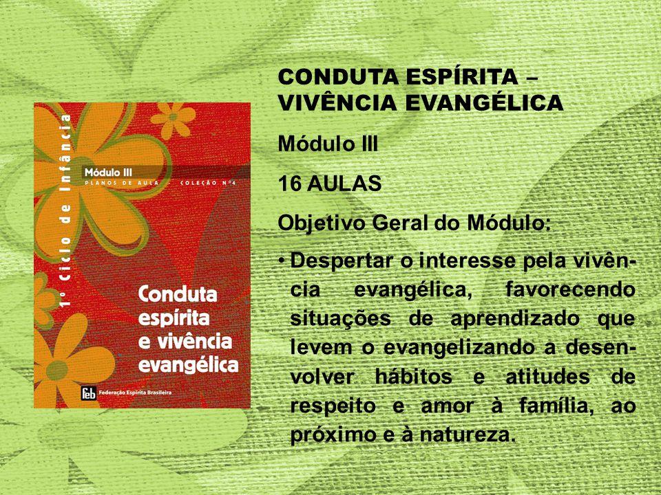 CONDUTA ESPÍRITA – VIVÊNCIA EVANGÉLICA
