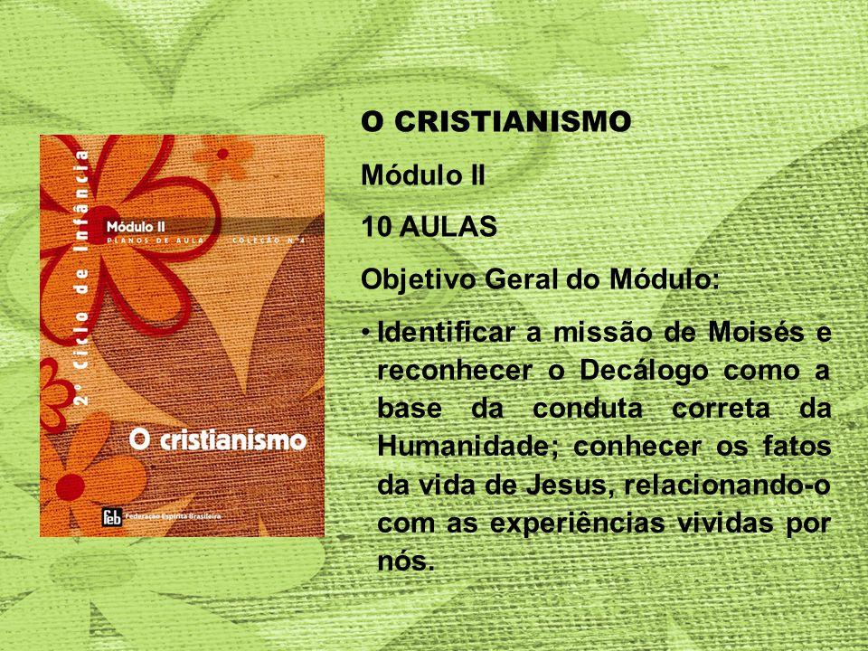 O CRISTIANISMO Módulo II. 10 AULAS. Objetivo Geral do Módulo: