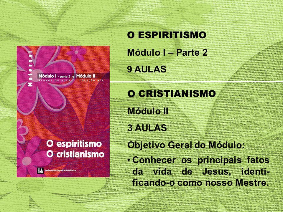 O ESPIRITISMO Módulo I – Parte 2. 9 AULAS. O CRISTIANISMO. Módulo II. 3 AULAS. Objetivo Geral do Módulo: