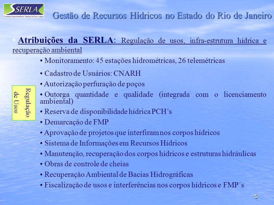 Gestão de Recursos Hídricos no Estado do Rio de Janeiro