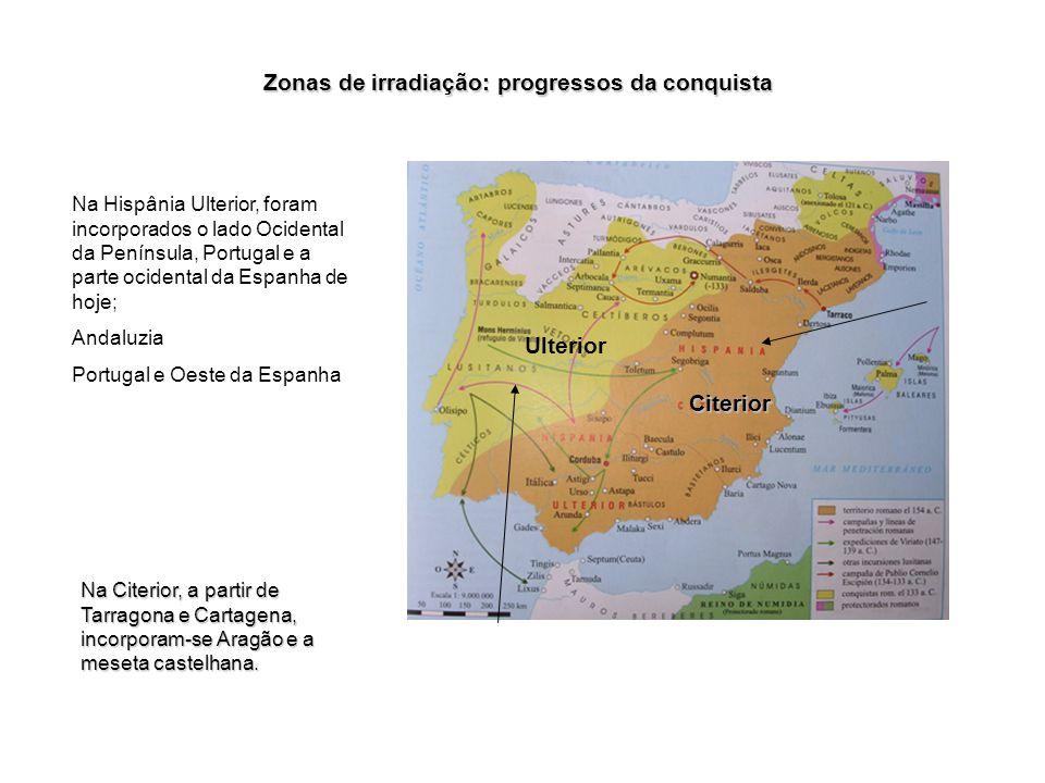 Zonas de irradiação: progressos da conquista