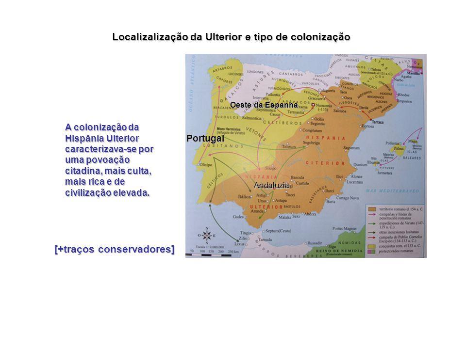 Localizalização da Ulterior e tipo de colonização