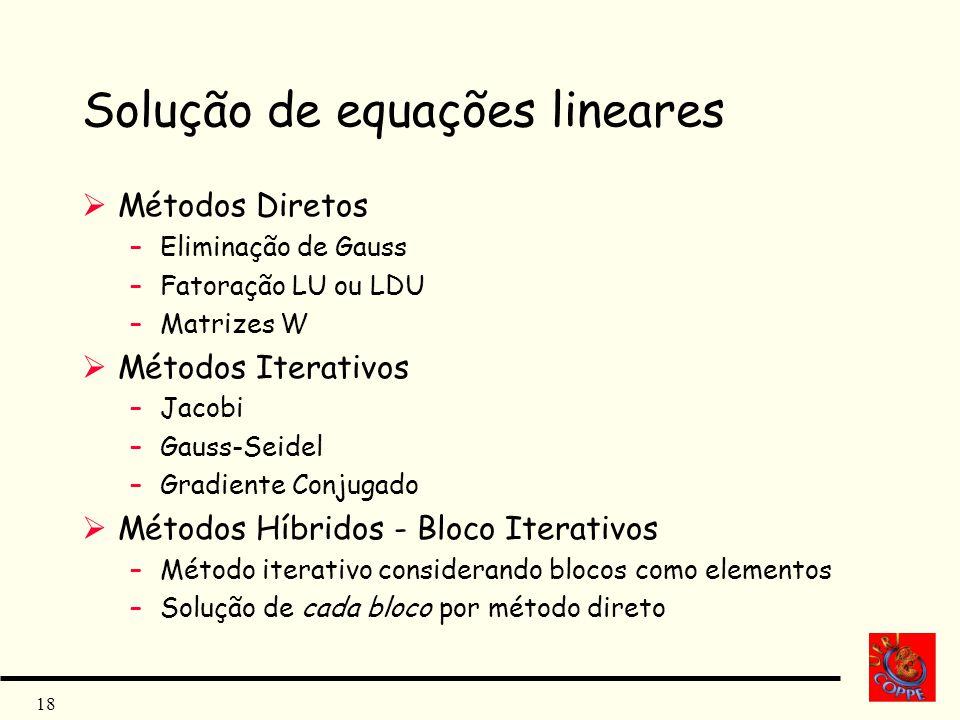 Solução de equações lineares