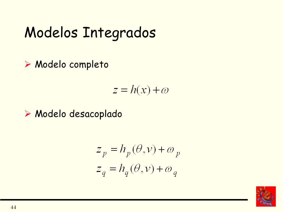 Modelos Integrados Modelo completo Modelo desacoplado
