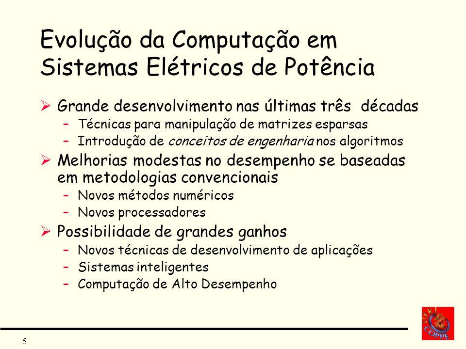 Evolução da Computação em Sistemas Elétricos de Potência