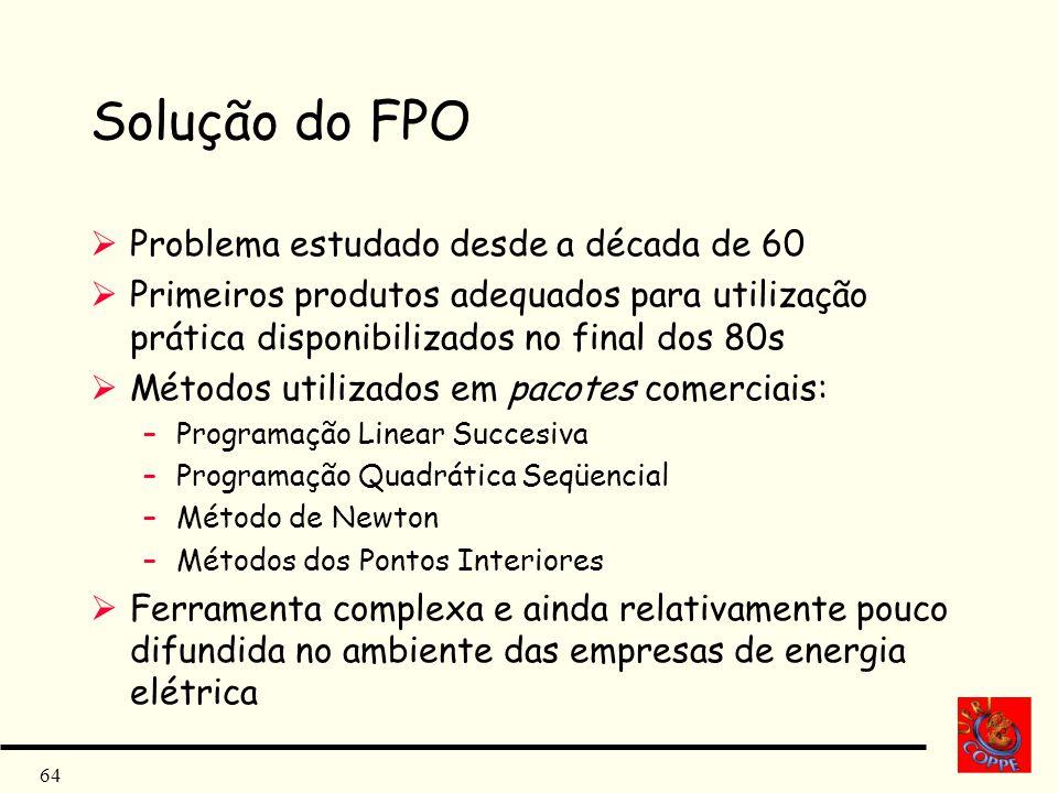 Solução do FPO Problema estudado desde a década de 60