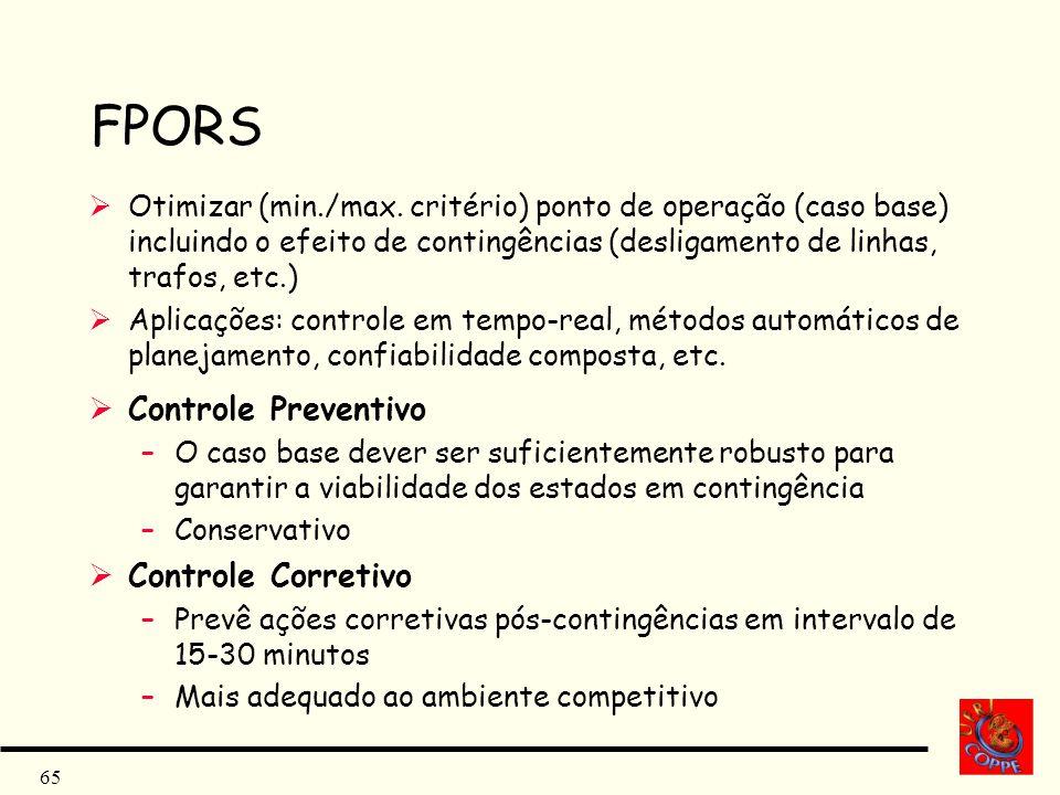 FPORS Controle Preventivo Controle Corretivo