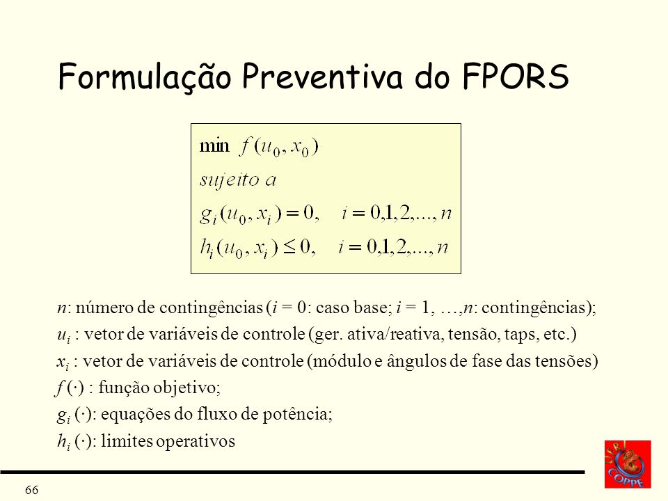 Formulação Preventiva do FPORS