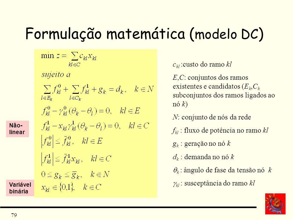 Formulação matemática (modelo DC)