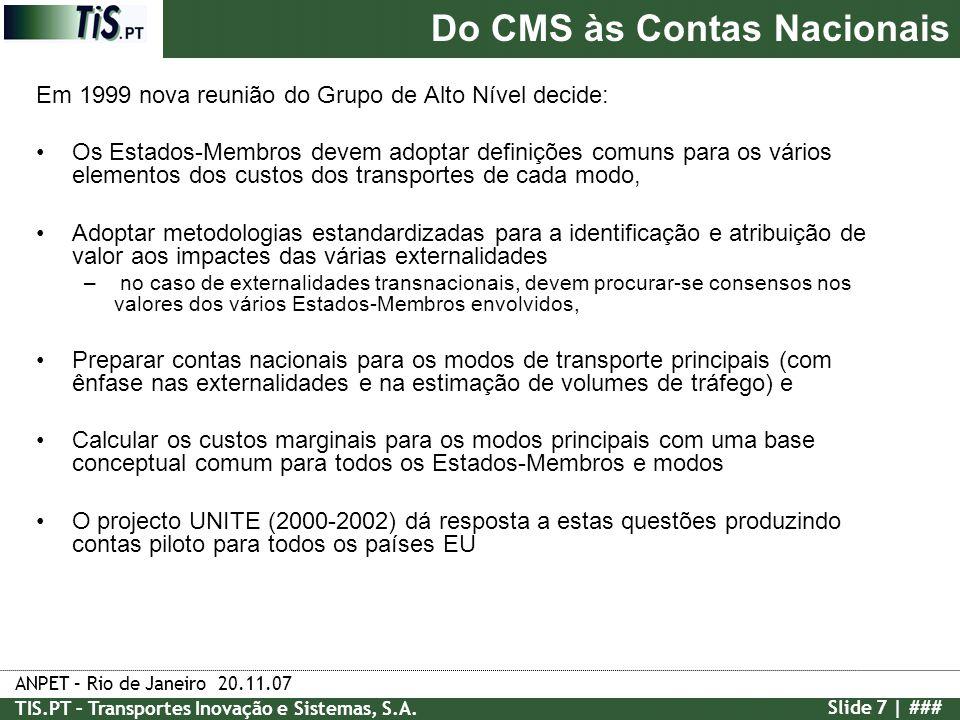 Do CMS às Contas Nacionais