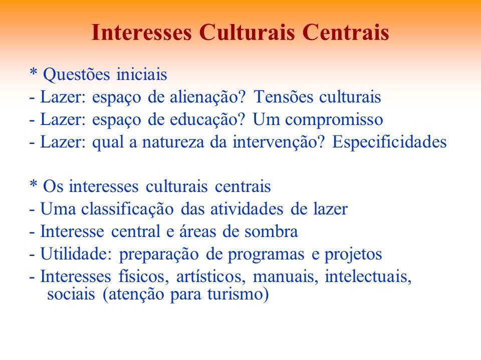 Interesses Culturais Centrais