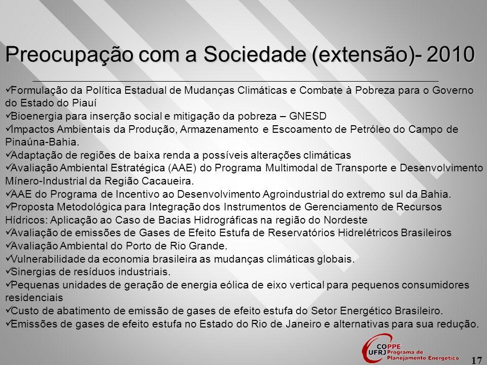 Preocupação com a Sociedade (extensão)- 2010