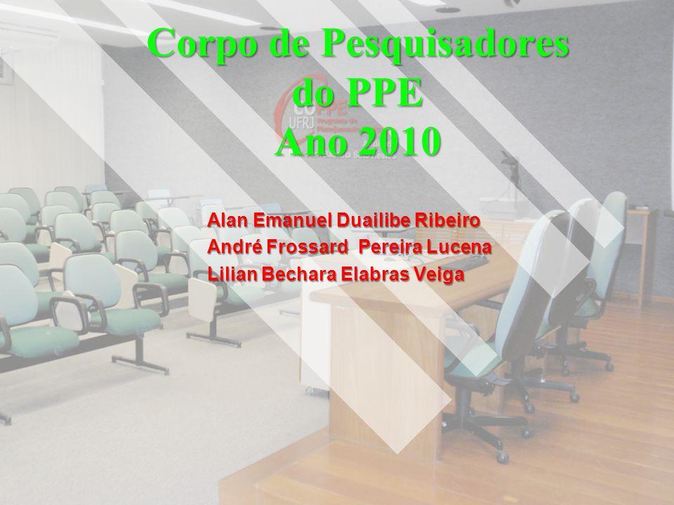 Corpo de Pesquisadores do PPE Ano 2010
