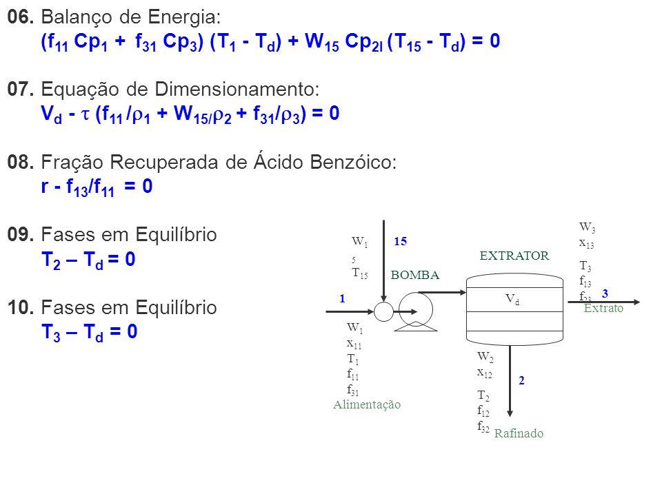 (f11 Cp1 + f31 Cp3) (T1 - Td) + W15 Cp2l (T15 - Td) = 0