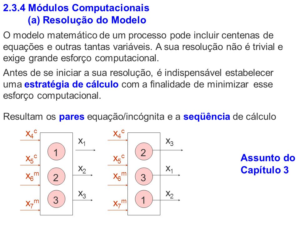 2.3.4 Módulos Computacionais (a) Resolução do Modelo