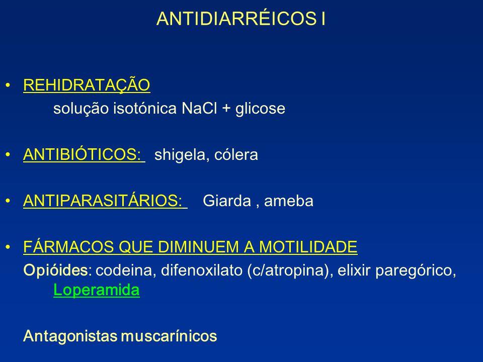 ANTIDIARRÉICOS I REHIDRATAÇÃO solução isotónica NaCl + glicose