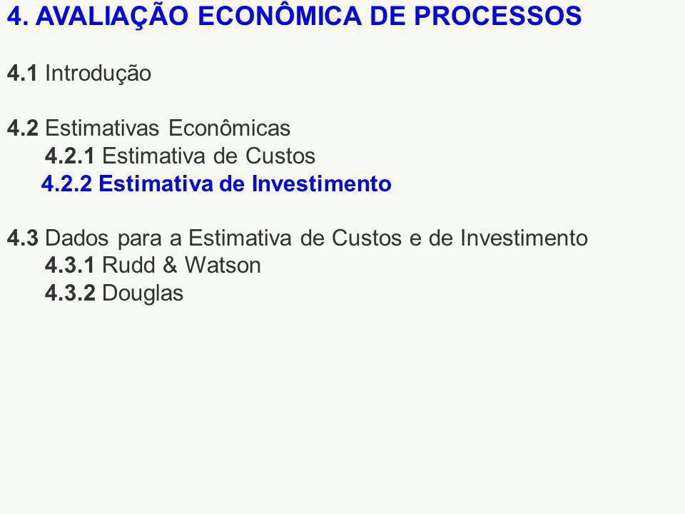 4. AVALIAÇÃO ECONÔMICA DE PROCESSOS