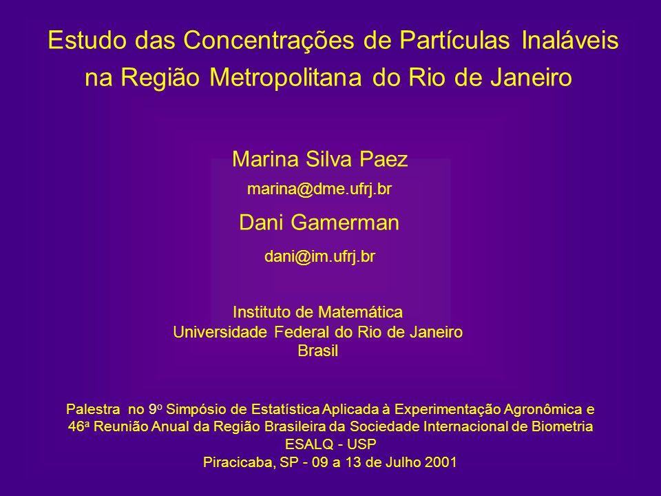 Estudo das Concentrações de Partículas Inaláveis