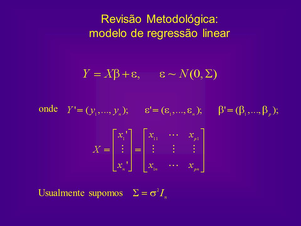 Revisão Metodológica: modelo de regressão linear