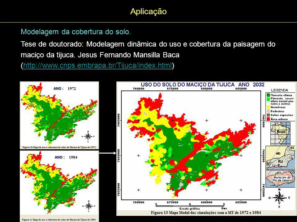 Aplicação Modelagem da cobertura do solo.