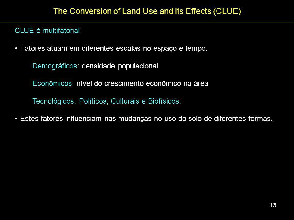 The Conversion of Land Use and its Effects (CLUE)
