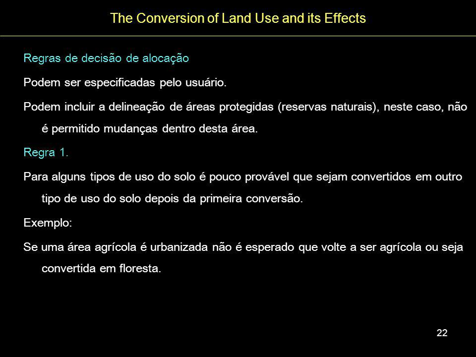 The Conversion of Land Use and its Effects