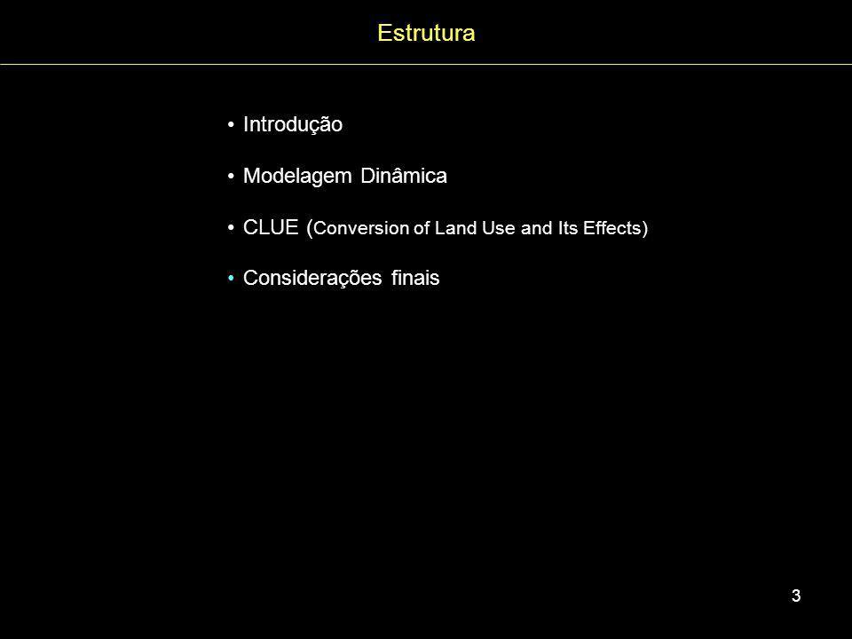 Estrutura Introdução Modelagem Dinâmica
