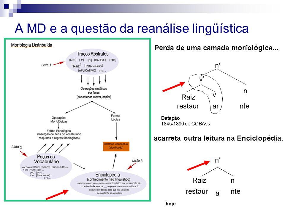 A MD e a questão da reanálise lingüística