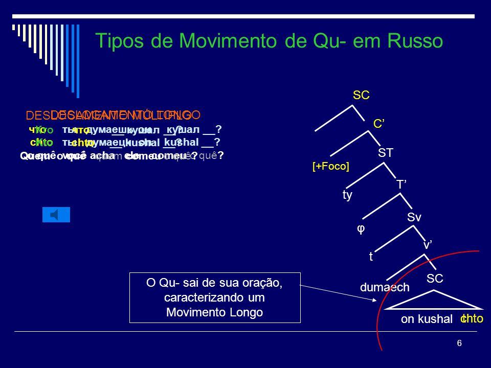 Tipos de Movimento de Qu- em Russo