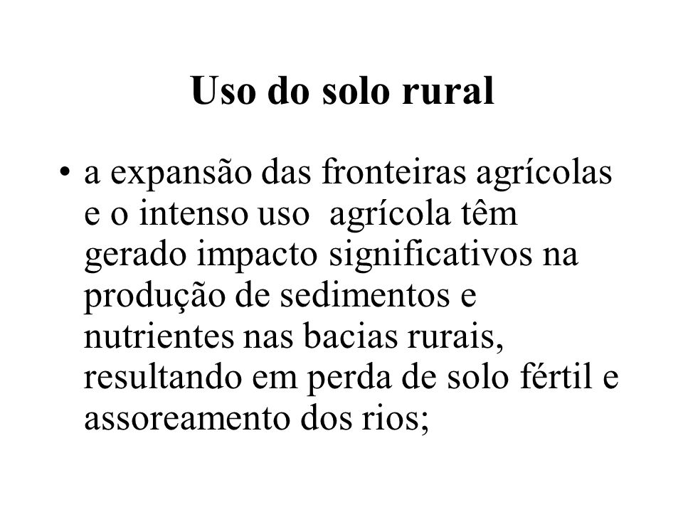 Uso do solo rural