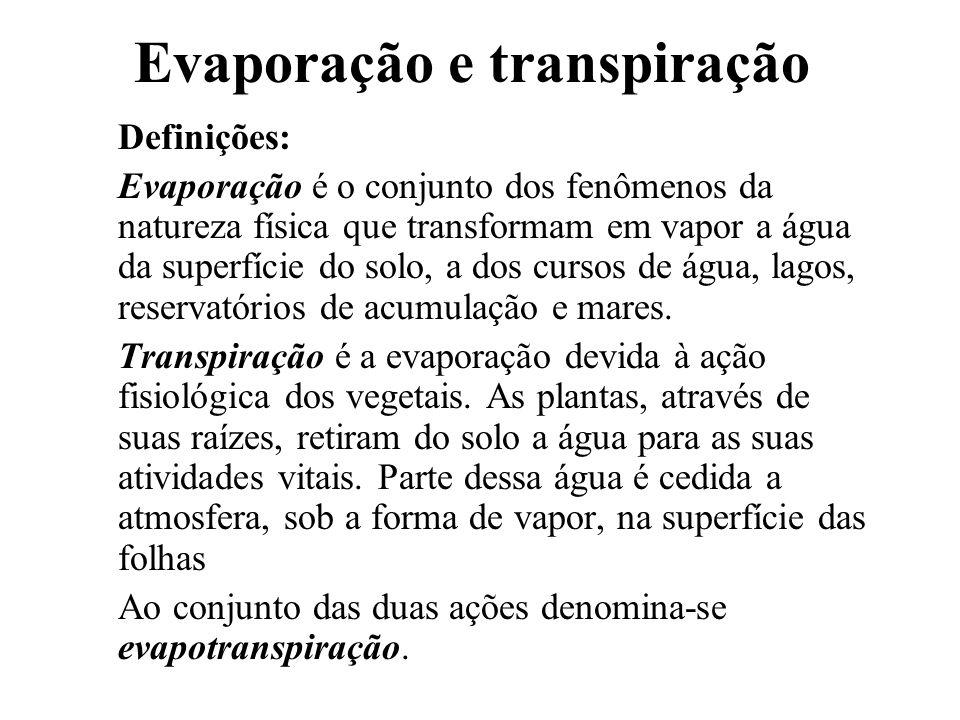 Evaporação e transpiração